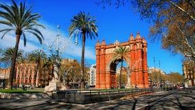Łuk Triumph w Barcelona obrazy royalty free