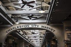 Łuk w Charleston miasta rynku budynku w Południowa Karolina fotografia stock