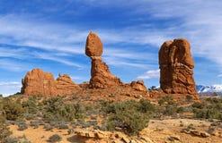 łuki balansująca park narodowy skała Utah Zdjęcie Royalty Free