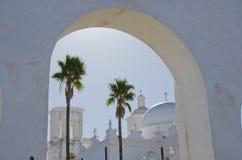 Łuki i kopuły San Xavier Del Bac Misja Zdjęcie Royalty Free