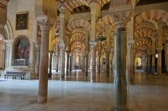 Łuki Mezquita, cordoba, Hiszpania fotografia stock