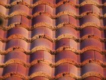 Łukowate Brown Dachowe płytki z rzędu Obrazy Royalty Free