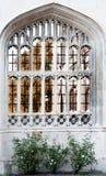 łukowaty Cambridge szkoła wyższa królewiątka s okno Obraz Stock