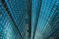 Łukowaty dach stacyjny atrium fotografia royalty free