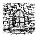 łukowaty drzwi ilustracja wektor
