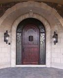 łukowaty drzwi wejścia luksus w Obrazy Stock