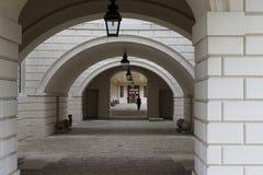 Łukowaty przejście przez królowej ` s domu w Greenwich, Londyn obraz royalty free