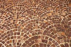 łukowaty tła cegły wzór Zdjęcie Stock