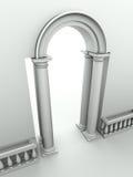 łuku balustradowy kolumn wejście Obraz Royalty Free