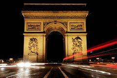łuku de France Paris triomphe zdjęcie royalty free