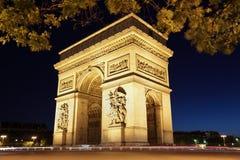 łuku de Paris triomphe fotografia stock