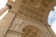 Łuku De Triomphe Du Carrousel jest triumfalnym łukiem w Paryż, lokalizować w miejscu Du Carrousel Fotografia Stock