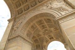 Łuku De Triomphe Du Carrousel jest triumfalnym łukiem w Paryż, lokalizować w miejscu Du Carrousel Obrazy Royalty Free