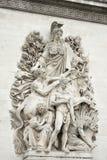 Łuku de triumfu szczegół Zdjęcia Royalty Free