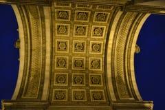 Łuku De Tryumfujący sufit w Paryż Fotografia Stock