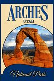 Łuku park narodowy Utah, podróży pojęcia tło obrazy stock
