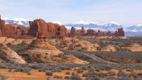 Łuku park narodowy w Utah - sławny punkt zwrotny zbiory