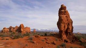 Łuku park narodowy w Utah - sławny punkt zwrotny zbiory wideo