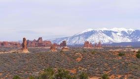 Łuku park narodowy w Utah - sławny punkt zwrotny zdjęcie wideo
