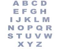 Łup abecadeł list na białym tle (grunge tekstura) Fotografia Stock