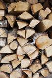 Łupki ściana woodpile obrazy stock