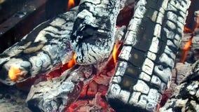 Łupki palenie w brązowniku outdoors zbiory wideo