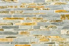 Łupkowa i kamienna ściana Fotografia Royalty Free