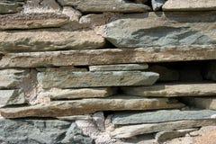 łupkowa kamienna ściana Zdjęcia Royalty Free