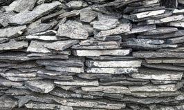 Łupkowa kamienna ściana Obrazy Stock