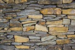 Łupkowa Kamiennej ściany tekstura Obraz Royalty Free
