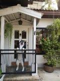 Łuskowata kawiarnia w Bangkok obrazy royalty free