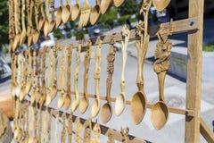 łyżka drewniana Zdjęcie Royalty Free