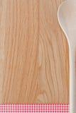 Łyżka i drewno obraz stock