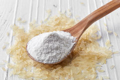 Łyżka ryżowa mąka obraz stock