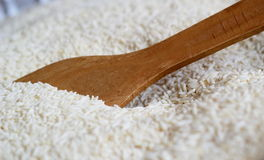 Łyżka w ryż Zdjęcia Royalty Free