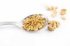 Łyżka z arachidami Fotografia Stock