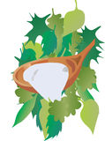 Łyżka z jogurtem ilustracji