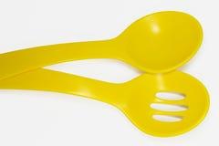 łyżki żółte Fotografia Royalty Free