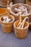 łyżki drewniane Zdjęcie Royalty Free