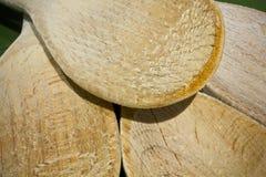 łyżki drewniane Obrazy Stock