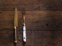 Łyżki, rozwidlenie i nóż, Fotografia Stock