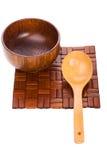 łyżkowy pucharu drewno Zdjęcie Stock