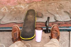 Łyżwa na rampie zdjęcie royalty free