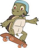 Łyżwiarka żółwia maskotki wektor Obraz Royalty Free