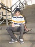 Łyżwiarki chłopiec Fotografia Stock