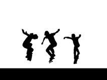 łyżwiarki drużyna Zdjęcia Royalty Free
