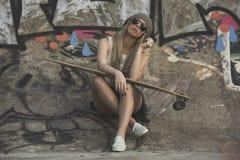 Łyżwiarki dziewczyna Zdjęcie Stock