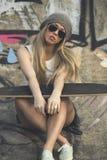 Łyżwiarki dziewczyna Zdjęcie Royalty Free