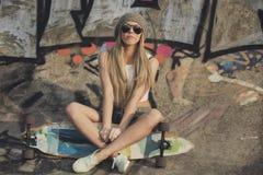 Łyżwiarki dziewczyna Zdjęcia Stock