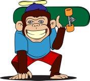 Łyżwiarki małpa Zdjęcie Royalty Free